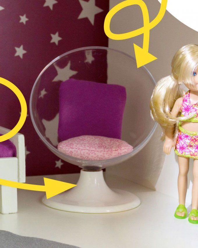 Barbie Möbel Selber Bauen  Stylischen Sessel Aus Ikea Bilderrahmen von Möbel Für Puppenhaus Selber Basteln Bild