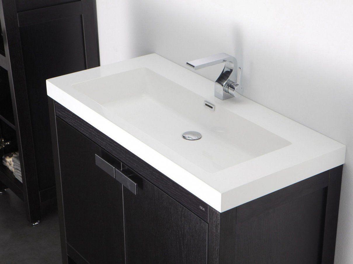 Barcelona Waschtischset 80 Cm Eiche Schwarz Badewelt Badezimmer Möbel von Waschtisch 80 Cm Breit Photo