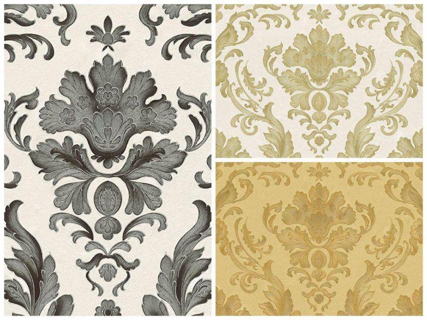 Barock Tapete Weiß Gold  Die Schönsten Einrichtungsideen von Barock Tapete Weiß Gold Photo