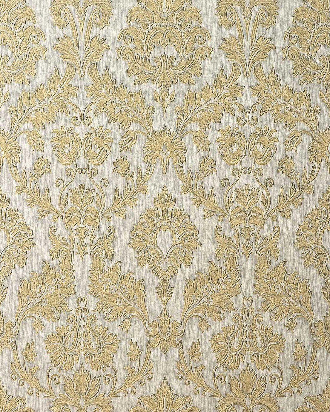Barock Tapete Weiß Tapete Barock Blume Wei Silber Tapete Rasch von Barock Tapete Weiß Gold Bild