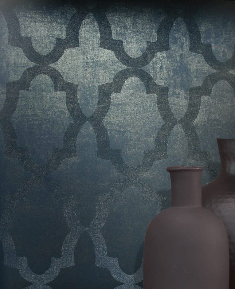 Barock Tapeten  Wohnen Mit Stil  Tapetenstudio von Barock Tapete Blau Gold Photo
