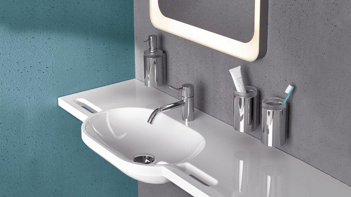 Barrierefreie Waschtische Lösungen Für Den Sanitärbereich  Hewi von Waschtisch 30 Cm Tief Bild