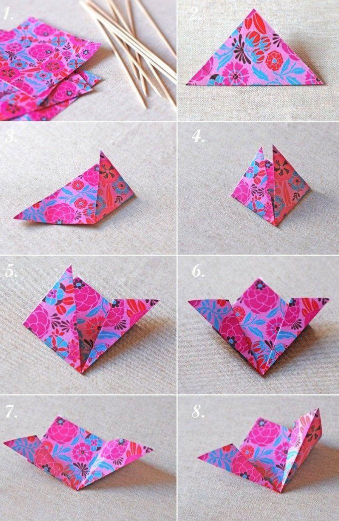 Basteln Mit Papier  Anleitungen Und Coole Ideen Zum Nachmachen von Blume Aus Papier Falten Anleitung Photo