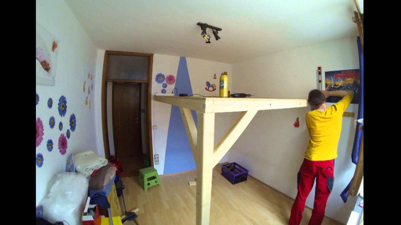 Bau Eines Hochbett Bei Einer Bekannten  Youtube von Doppel Hochbett Selber Bauen Bild