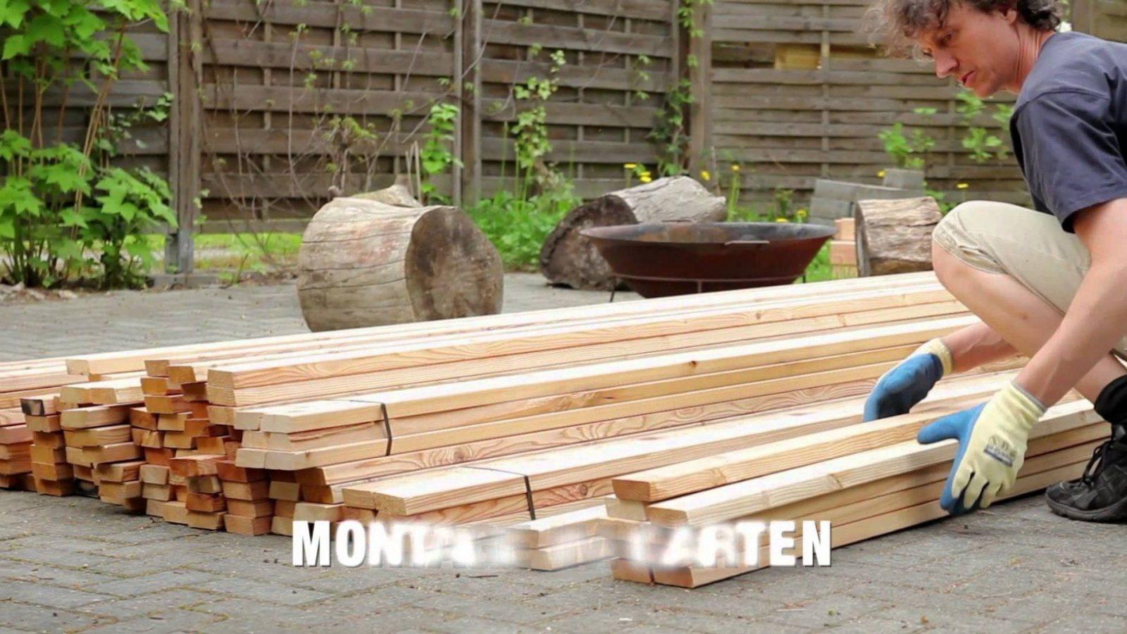 Bau Sichtschutzzaun Aus Rhombusleisten Sib Lärche  Youtube von Sichtschutz Lärche Selber Bauen Bild