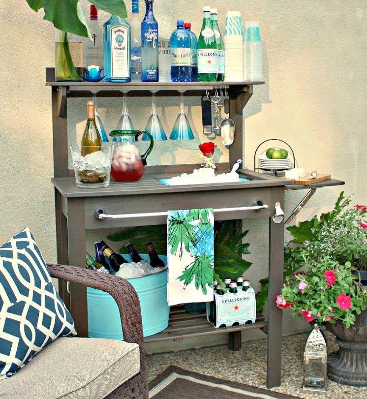 Bauen Sie Selber Garten Bar Mit Waschbecken  Freshouse von Garten Waschbecken Selber Bauen Bild
