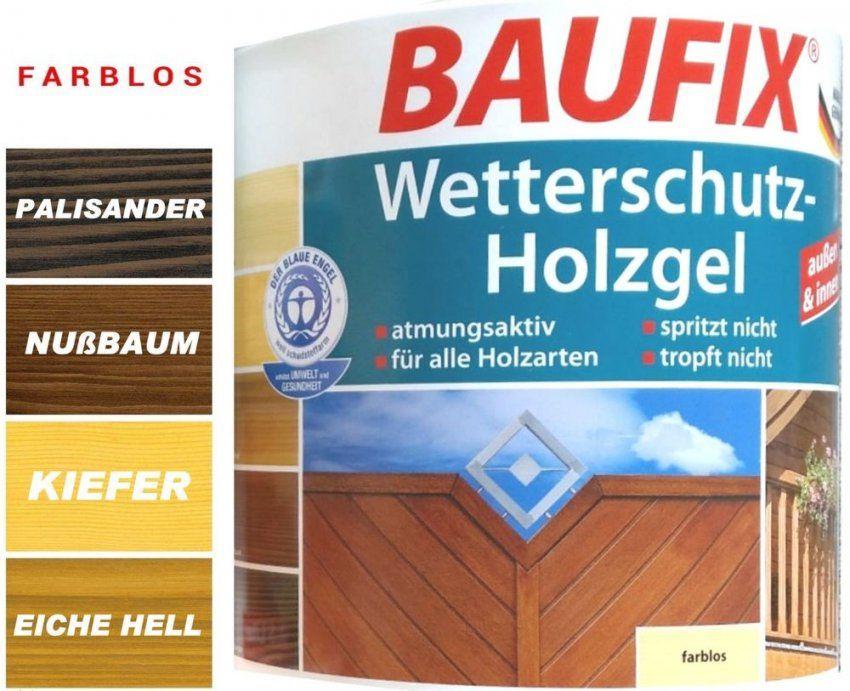 Baufix® 25L Wetterschutz Holzgel Holzschutz Innen & Außen Kiefer von Baufix Wetterschutz Holzgel Palisander Bild