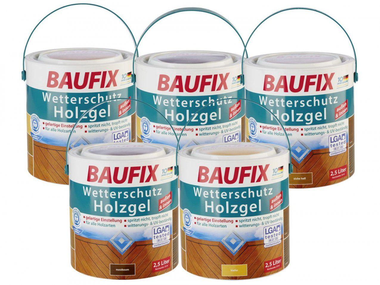 Baufix Wetterschutzholzgel 25 L  Lidl Deutschland  Lidl von Baufix Wetterschutz Holzgel Palisander Bild