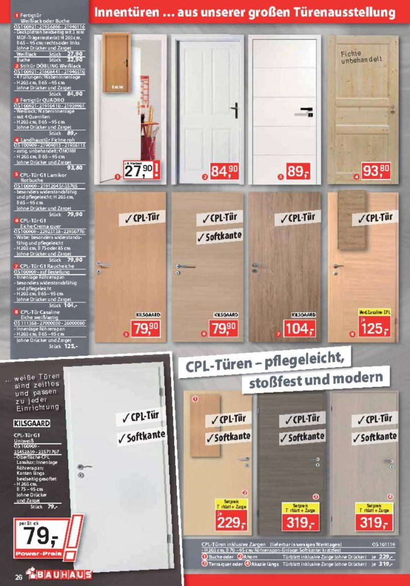 Bauhaus Katalog  Aktueller Bauhaus Prospekt  Seite No 2648 von Bauhaus Innentüren Mit Zarge Photo