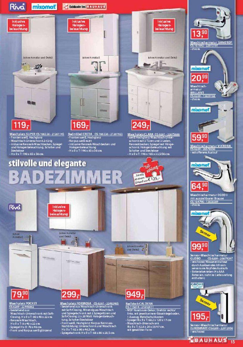Bauhaus Waschbecken  Hausdesignpro von Waschtisch Mit Unterschrank Bauhaus Bild