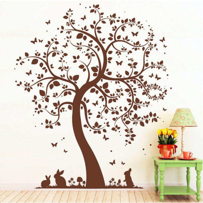 Baum Malvorlage Wand von Vorlage Baum Für Wand Photo