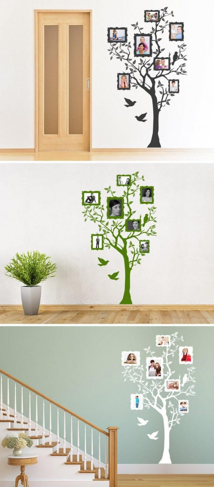 Baum Mit Bilderrahmen  Wandtattoo Baum Wandtattoo Und Bilderrahmen von Wandtattoo Baum Mit Fotorahmen Photo
