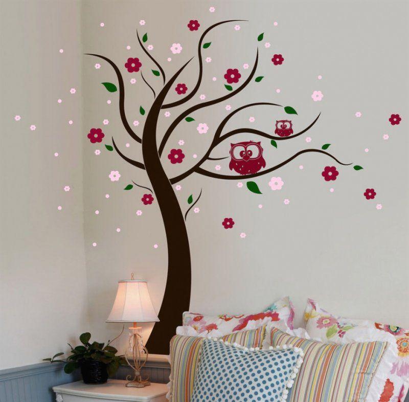 Baum Selber Malen An Wand Mit Faszinierend Bilder Ideen Wohndesign 3 von Vorlage Baum Für Wand Bild