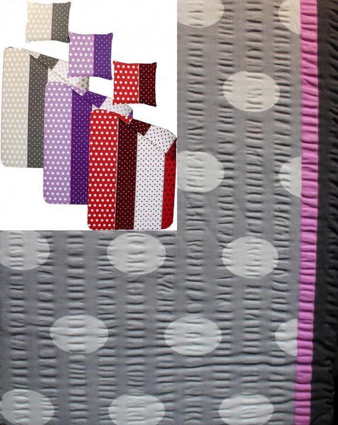 Baumwoll Seersucker Bettwäsche Übergröße 155X220  Real von Bettwäsche Seersucker 155X220 Bild