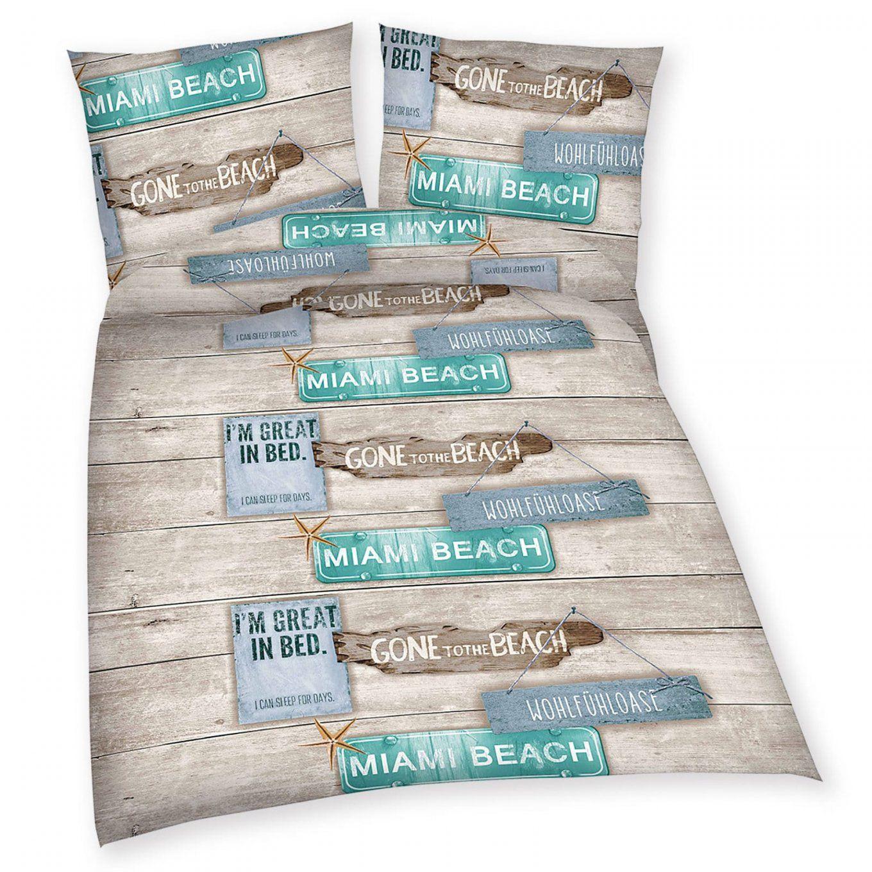 Baumwollbettwäsche  Beach House  135X200  Bettwäsche von Bettwäsche Mit Coolen Sprüchen Photo