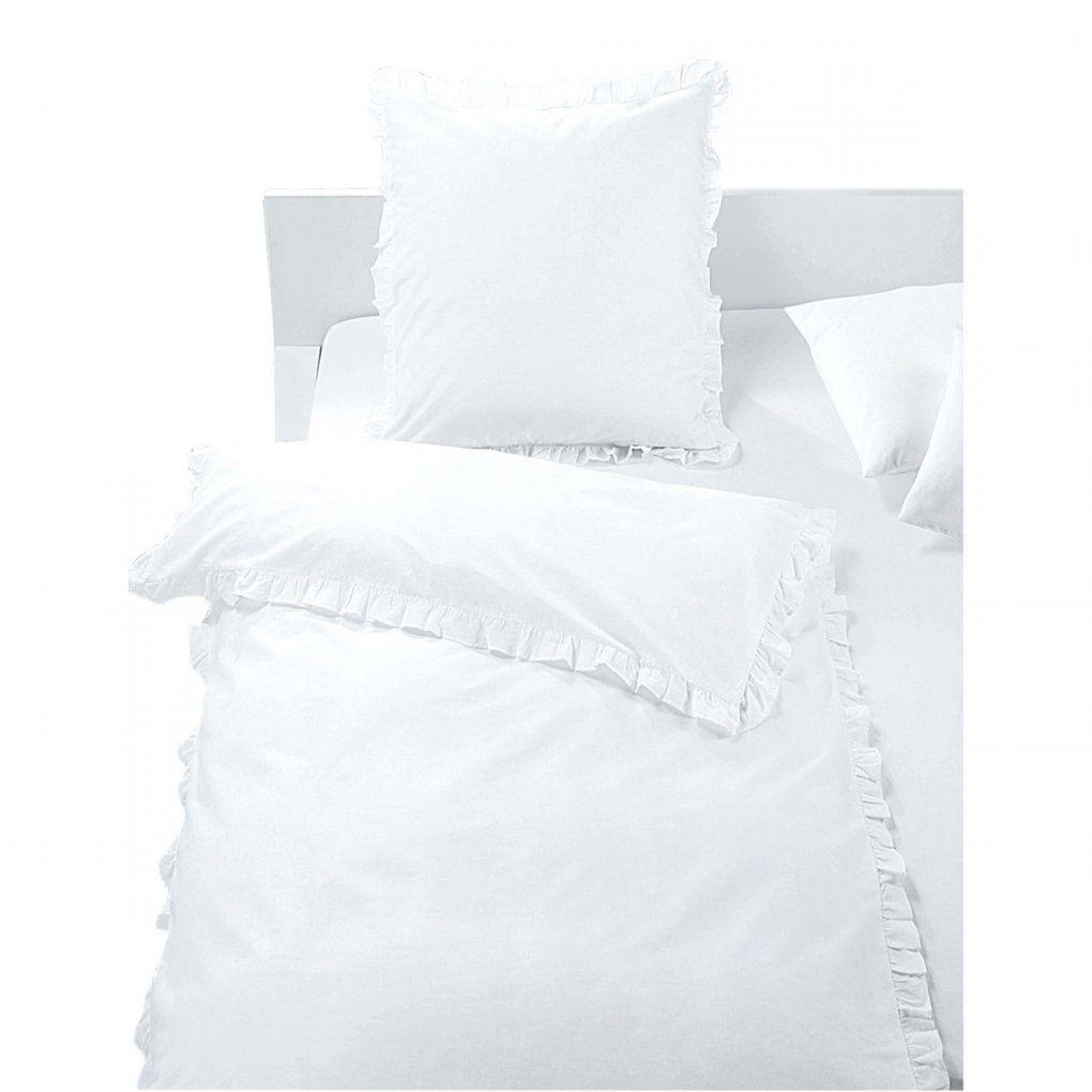 Baumwollbettwäsche Rüschen Weiß  Möbel Boss von Weiße Bettwäsche Mit Rüschen Bild