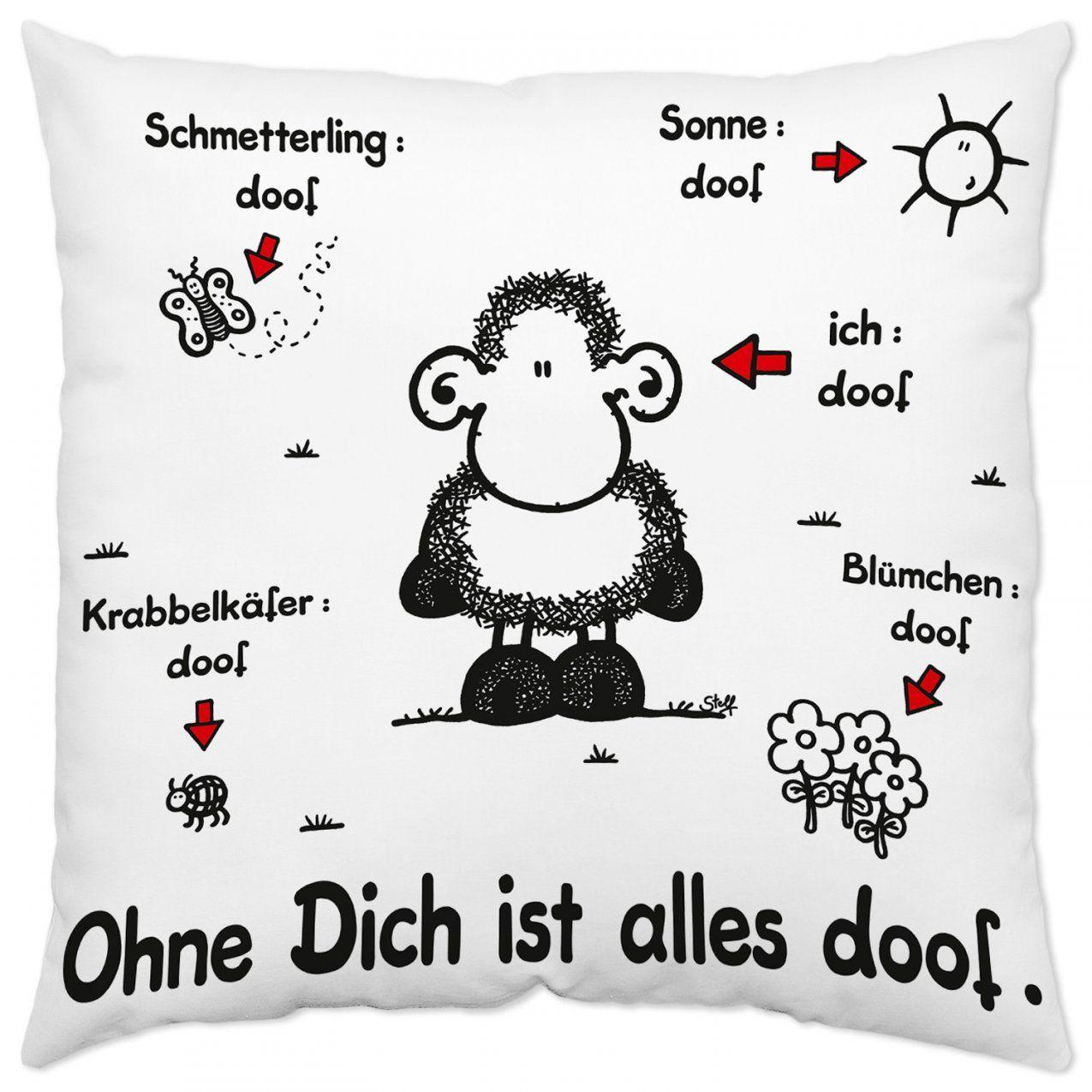 Baumwollkissen Ohne Dich Ist Alles Doof  Jetzt Online Kaufen von Bettwäsche Ohne Dich Ist Alles Doof Bild