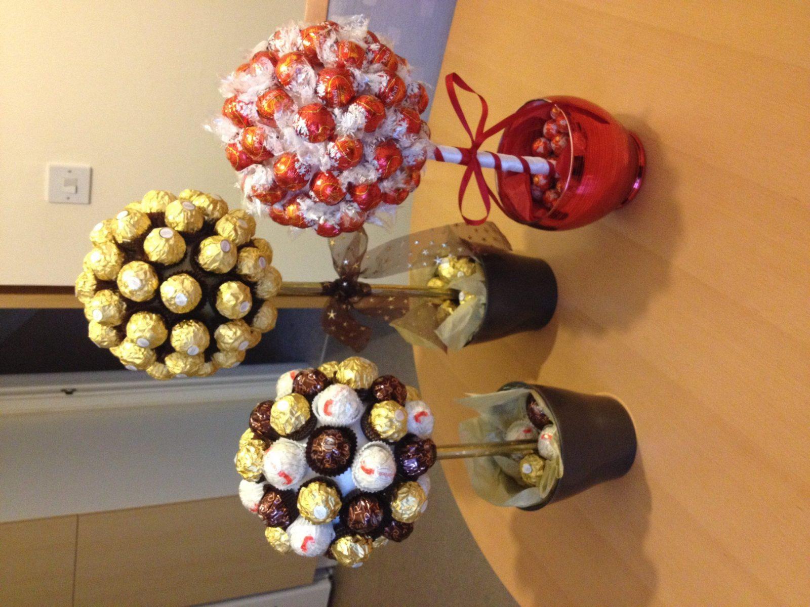 Beautiful Ferrero Rocher Baum Mit Personalisierte 19 Und Il von Rocher Baum Basteln Anleitung Photo