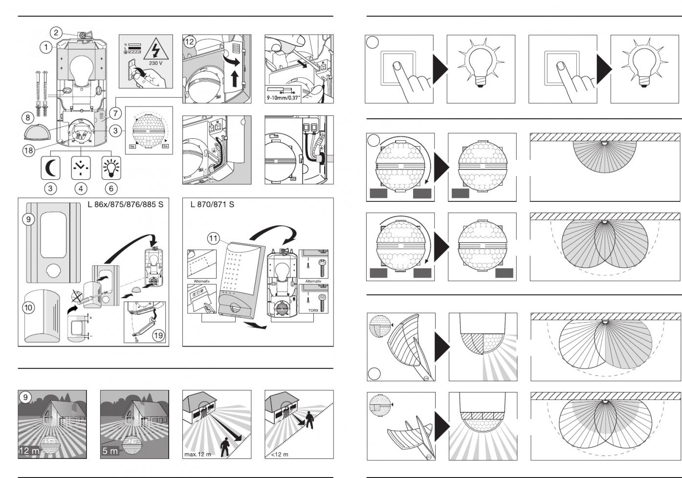 Bedienungsanleitung Steinel L 860 S (Seite 1 Von 50) (Alle Sprachen) von Steinel Außenleuchte Mit Bewegungsmelder Bedienungsanleitung Photo