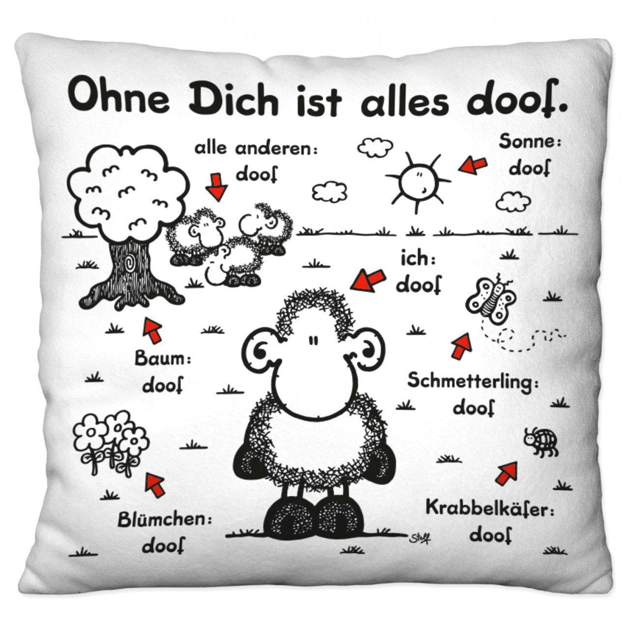 Beeindruckende Ideen Ohne Dich Ist Alles Doof Bettwäsche Und von Sheepworld Bettwäsche 155X220 Photo