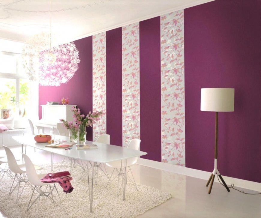 Beeindruckende Inspiration Tapeten Lila Farbe Wandgestaltung Und von Tapeten Lila Farbe Wandgestaltung Bild
