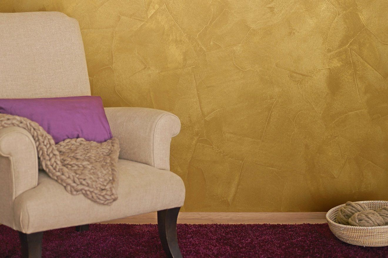 wandfarbe gold farbe wandgestaltung haus design ideen