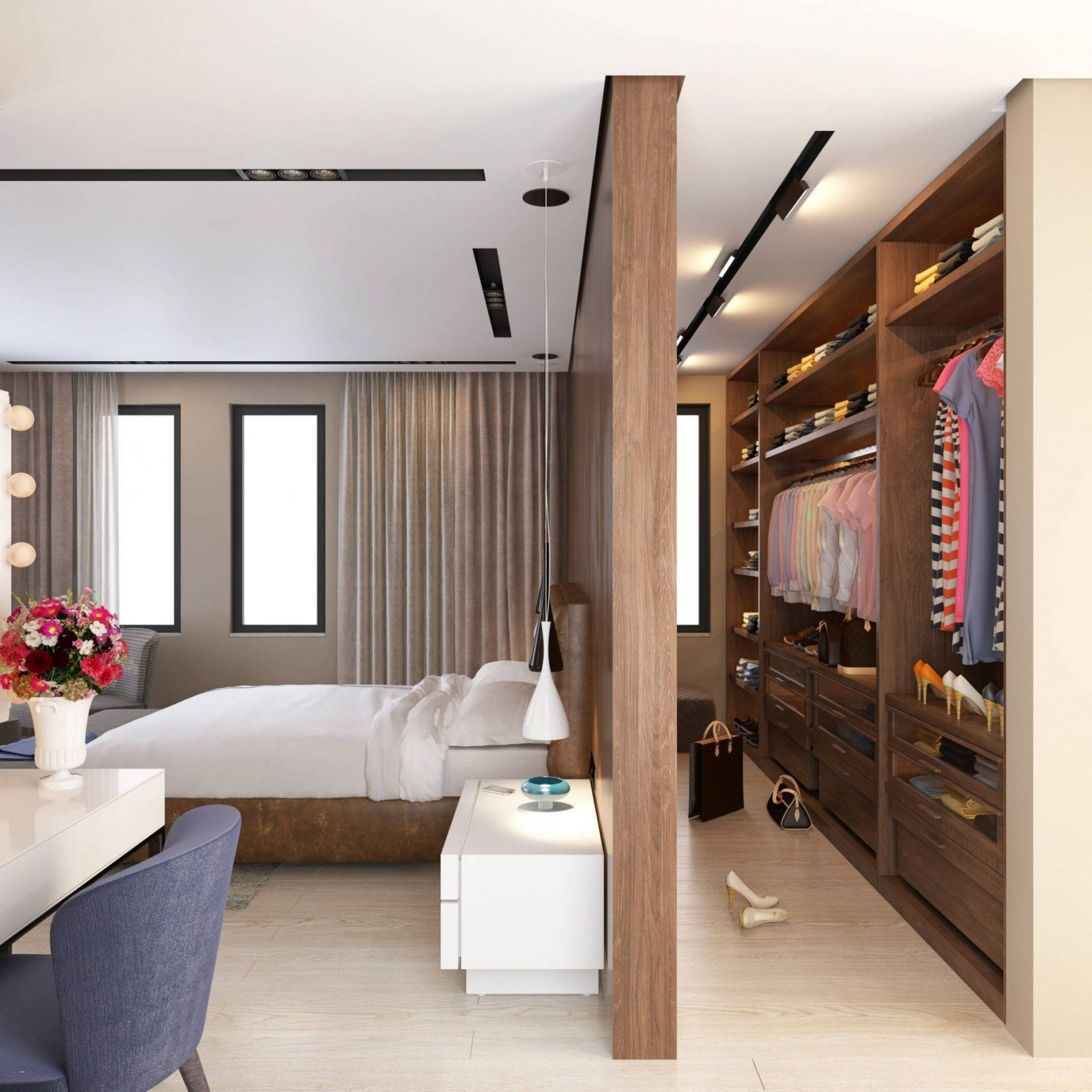 Begehbarer Kleiderschrank Kleines Schlafzimmer Genial Genial von Begehbarer Kleiderschrank Kleines Schlafzimmer Bild