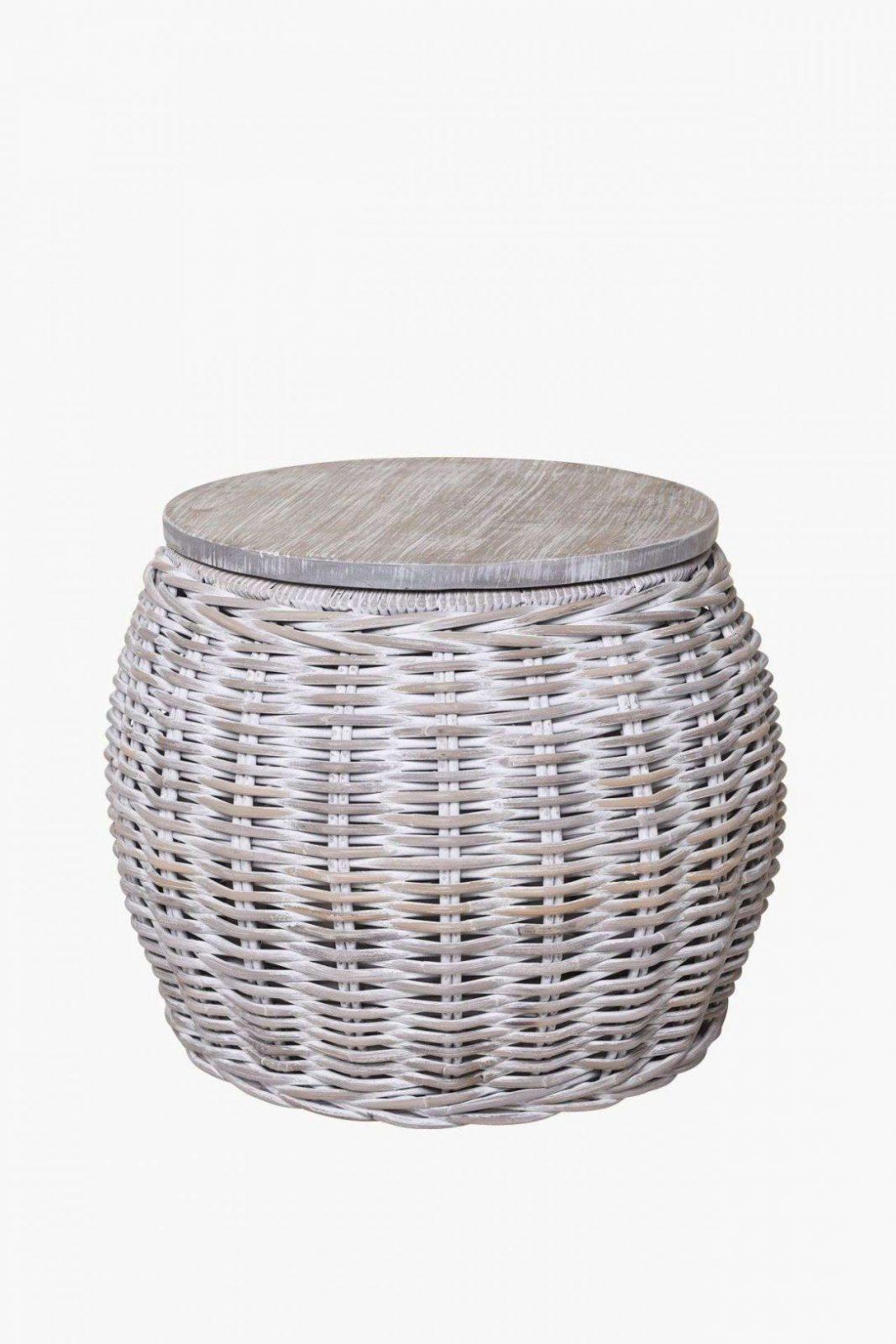 Beistelltisch Grau Einzigartig Tisch Rund Kaffeetisch Couchtisch von Couchtisch Rattan Rund Bild