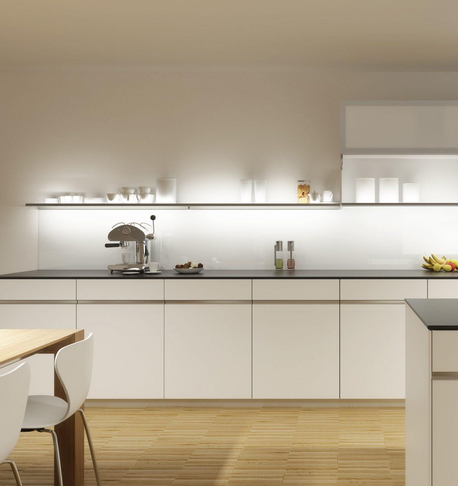 Beleuchtung Küche Ohne Oberschränke Küchenzeile von Beleuchtung ...