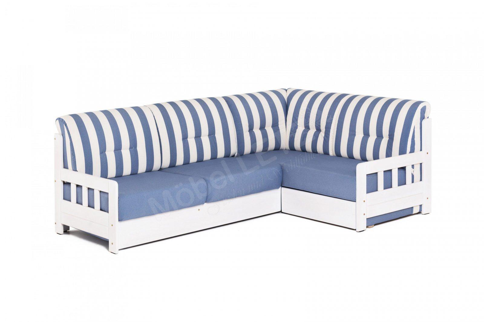 Benformato Campi Ecksofa Blauweißgestreift  Möbel Letz  Ihr von Sofa Blau Weiß Gestreift Photo