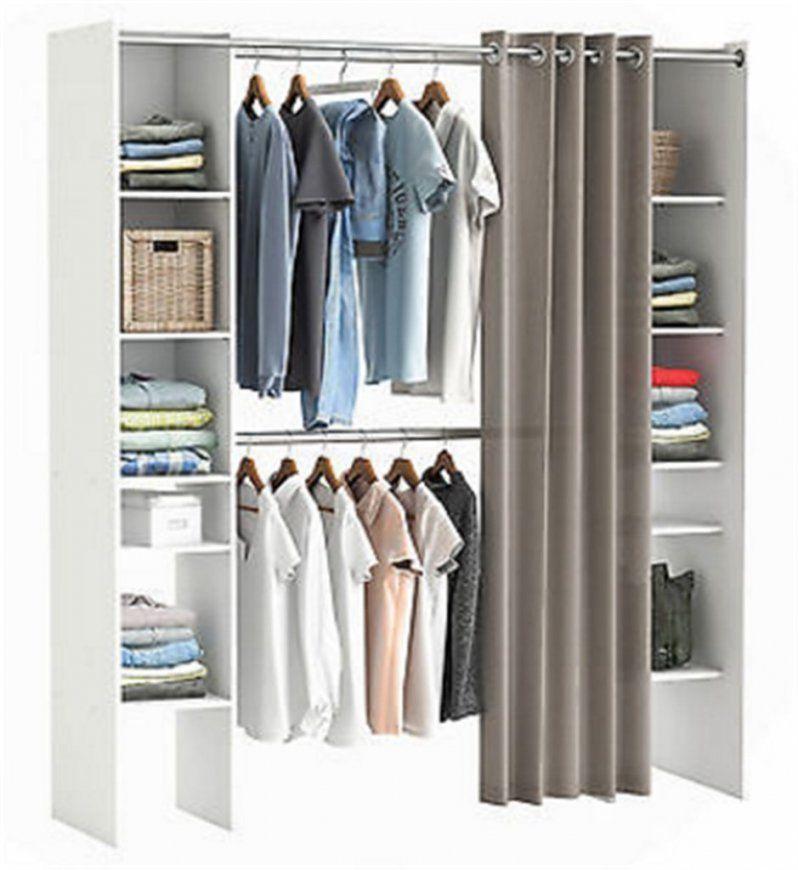 Bescheiden Kleiderschrank Mit Vorhang Am Besten Selber Bauen Offener von Kleiderschrank Mit Vorhang Statt Türen Bild