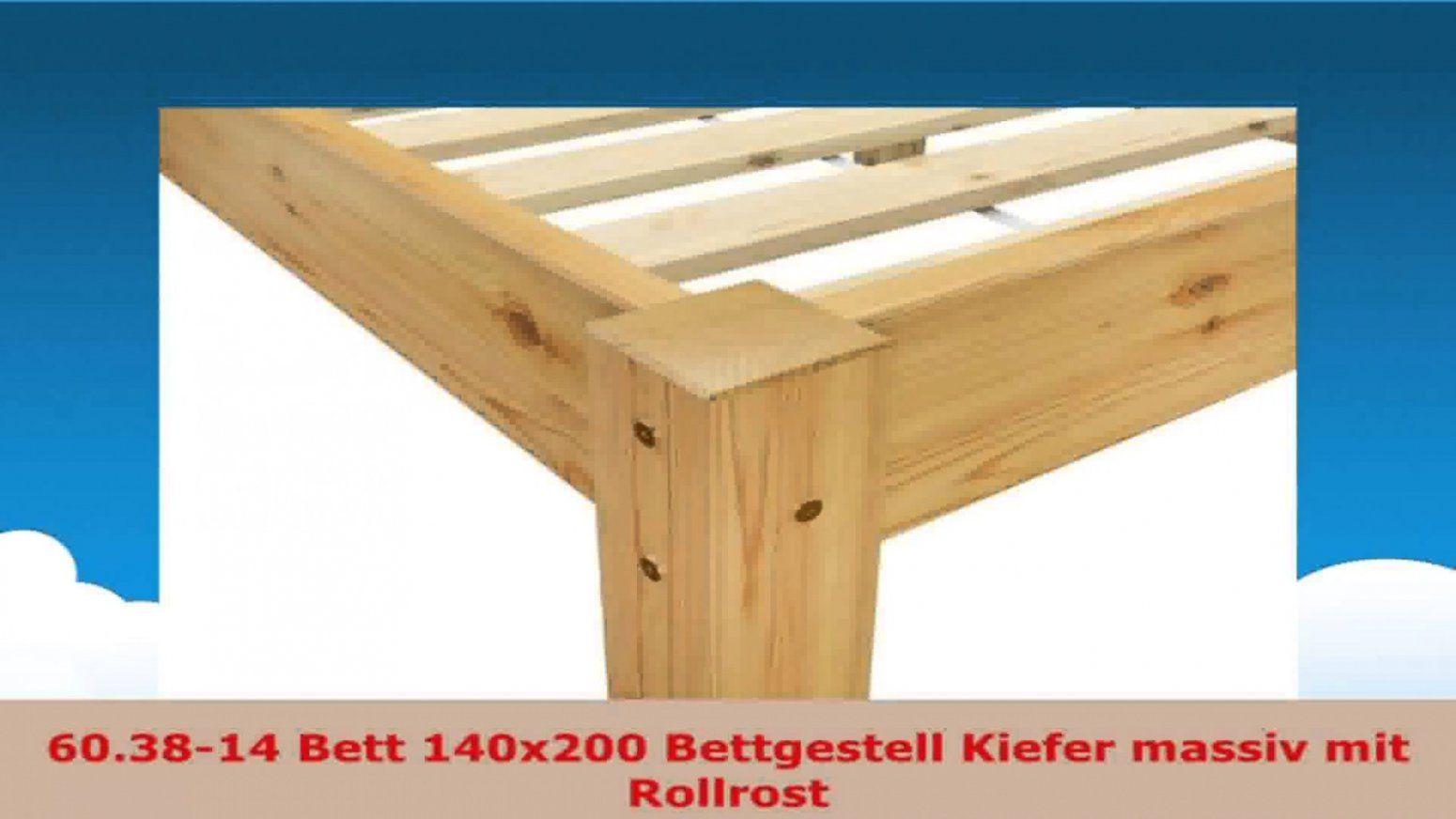 Beste Bett 140X200 Bettgestell Kiefer Massiv Mit Rollrost Zum Kiefer von Bett 140X200 Kiefer Massiv Photo