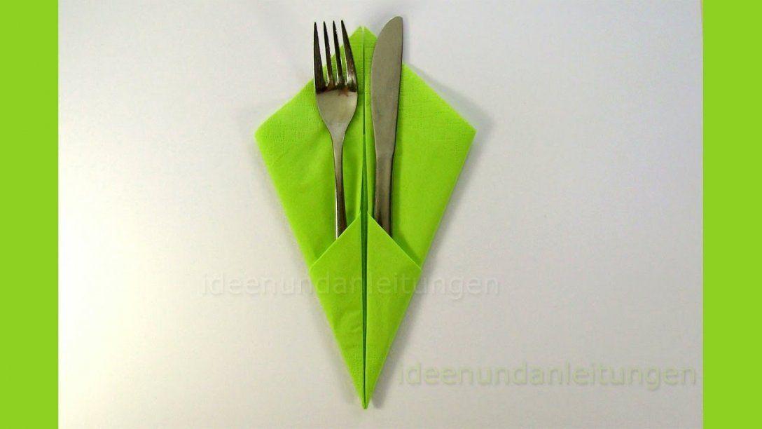 Bestecktasche Falten Servietten Falten Einfach Einfache Diy Avec von Servietten Falten Bestecktasche Zweifarbig Bild