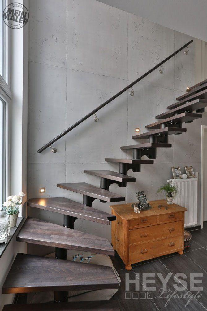 Betonoptik Schalungsbeton Rostoptik – Schöner Wohnen Macht Freude von Treppenhaus Gestalten Schöner Wohnen Bild