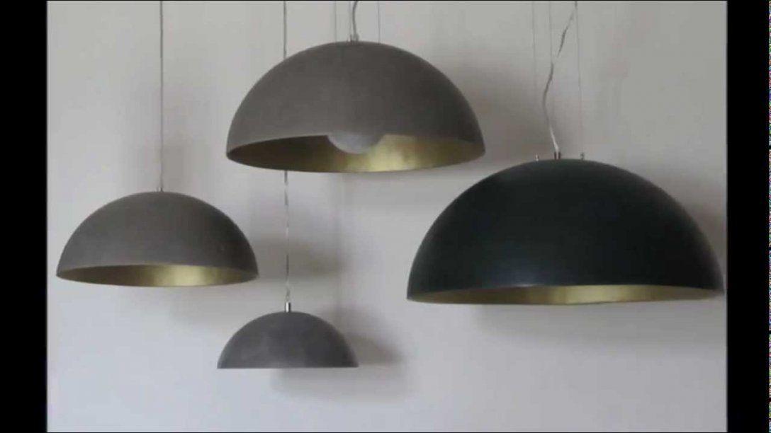 Betonunique Betonlampen 01 2013  Youtube von Lampenschirm Selber Machen Material Bild