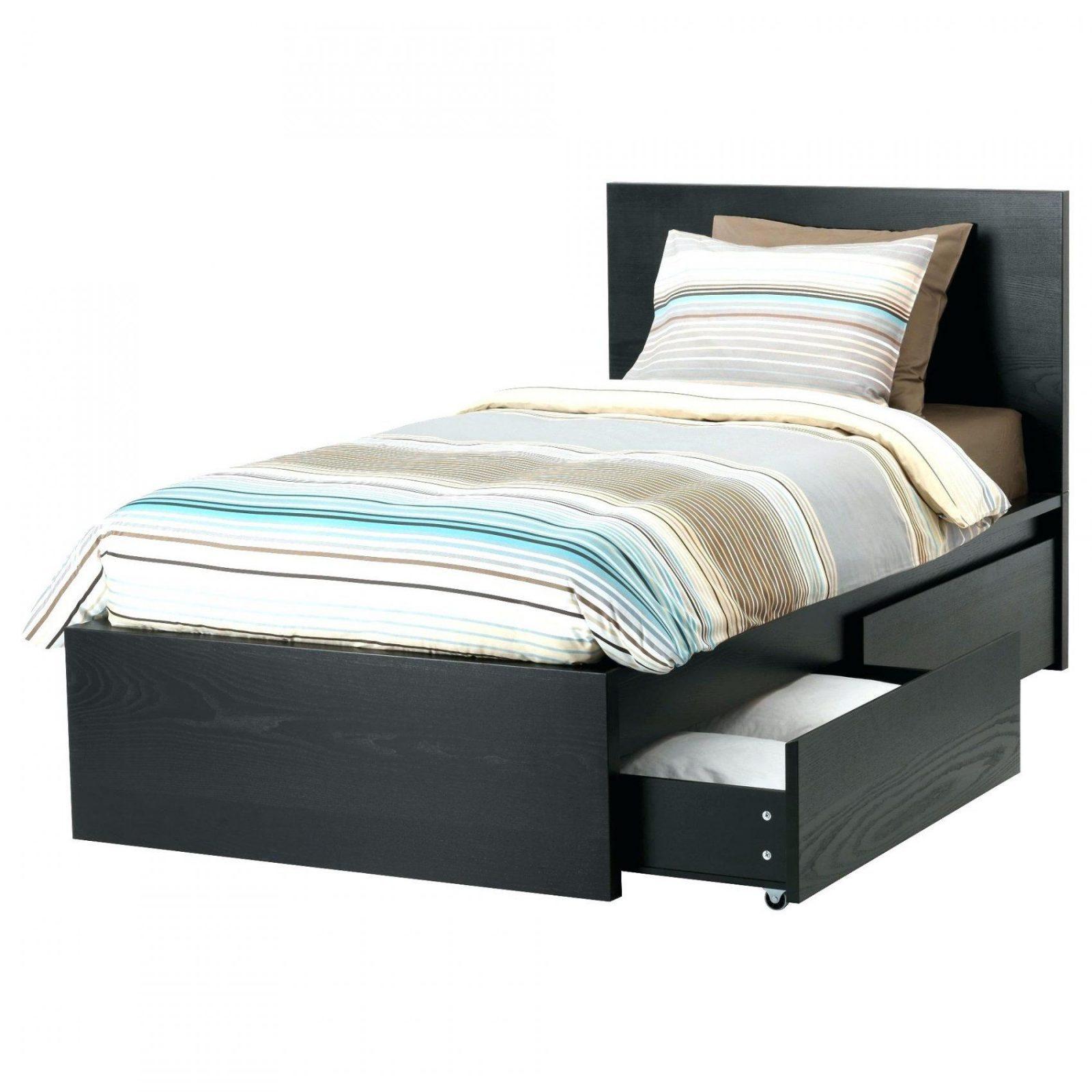 Bett 120 Cm 120×200 Ikea Malm Bettgestell Hoch Mit 2 Schubkasten von Bett 120 Cm Breit Mit Bettkasten Bild