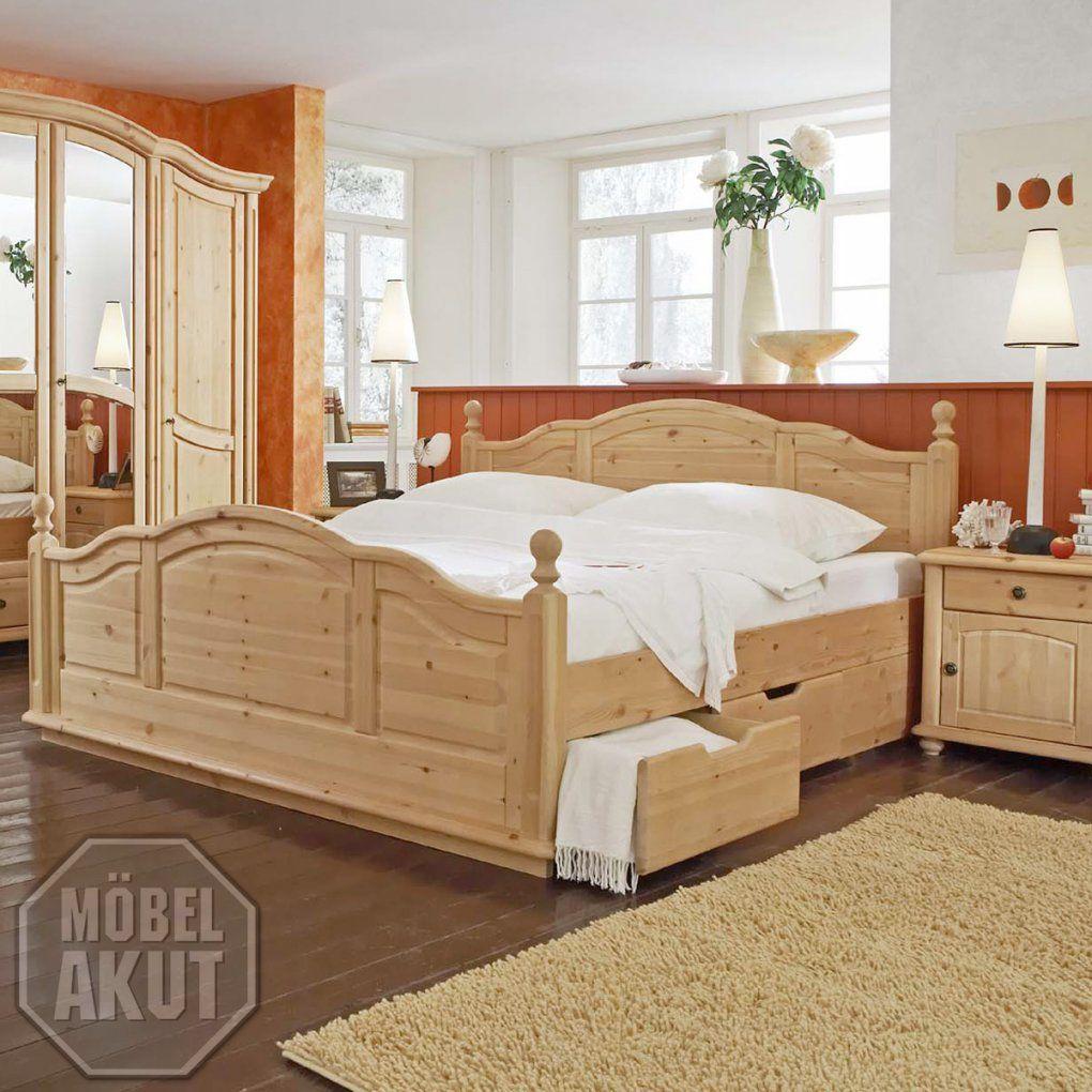 "Bett ""arosa"" Doppelbett Schlafzimmerbett In Kiefer Massiv Gewachst von Doppelbett Kiefer Massiv 180X200 Photo"