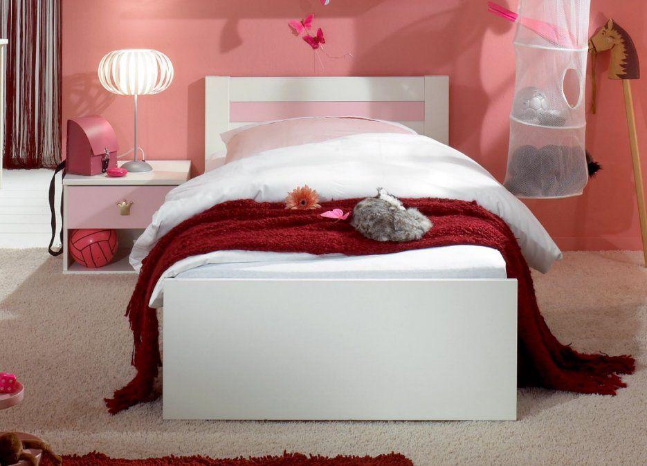 Bett Jugendbett Weiss Rosa Hippo 90 X 200 Cm Jugendzimmer von Bett 90X200 Weiß Hochglanz Bild