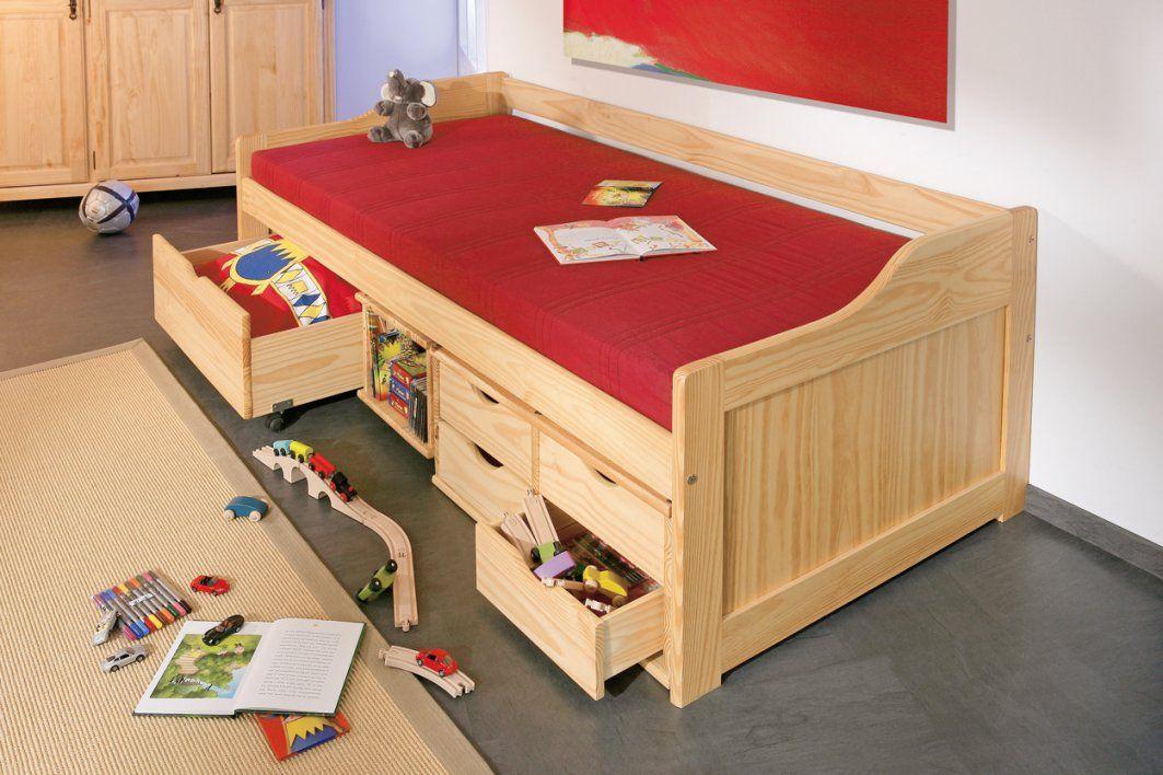 Bett Kojenbett Funktionsbett 90 X 200 Cm Kiefer Massiv Woody 148 von Kojenbett Kiefer Massiv 90X200 Bild