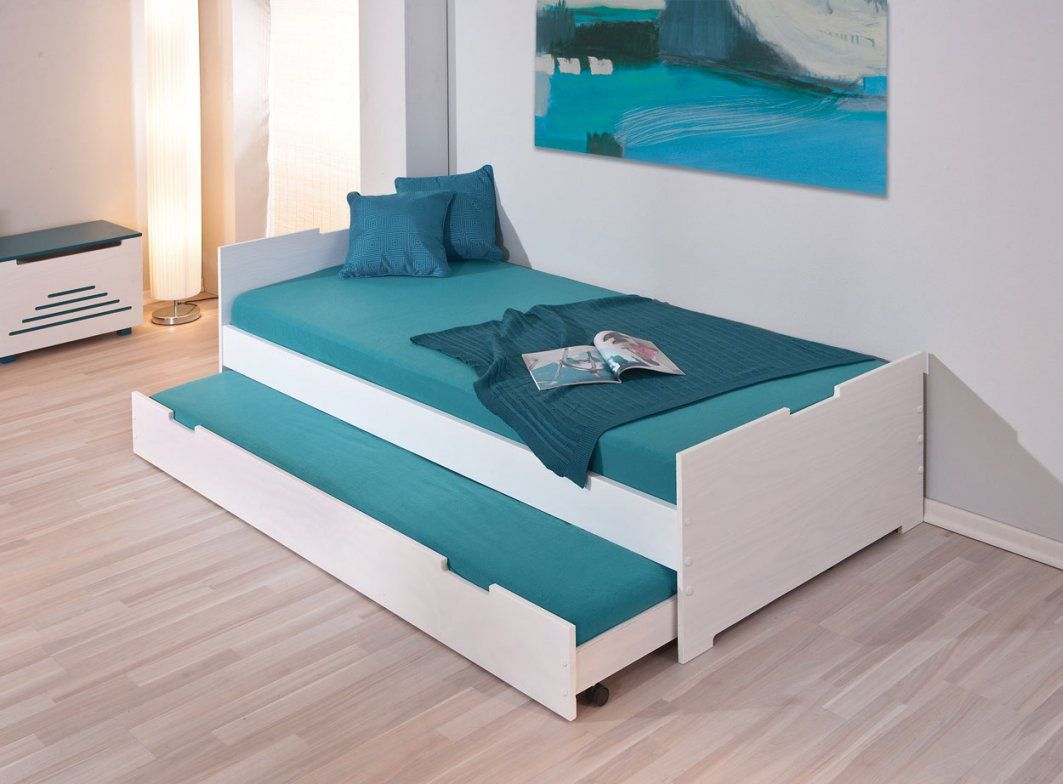 Bett Mit Unterbett Weiss  Die Schönsten Einrichtungsideen von Ikea Einzelbett Mit Unterbett Bild