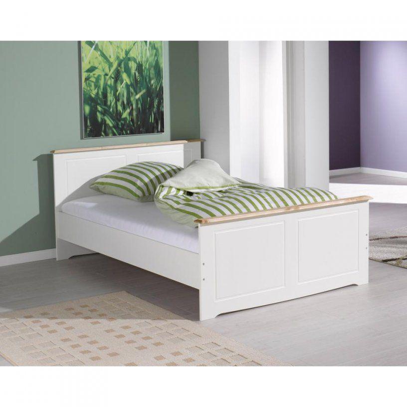 Bett Rouven (90X200 Cm Weiß Lackiert)  Dänisches Bettenlager von Metallbett Weiß 90X200 Dänisches Bettenlager Bild