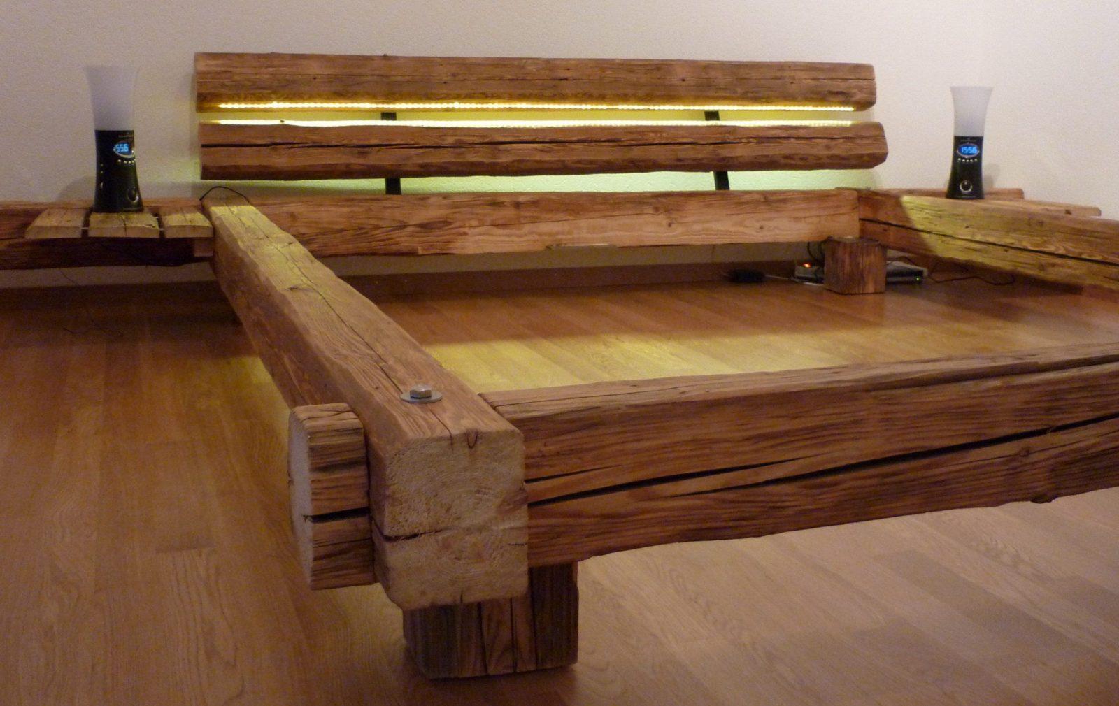 Bett Selber Bauen Aus Kantholz Naturholzmöbel Für Gesundes Wohnen von Bett Selber Bauen 200X200 Photo