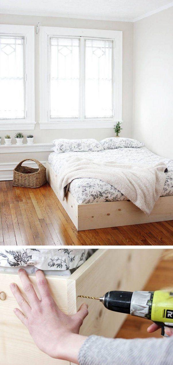 Bett Selber Bauen12 Einmalige Diy Bett Und Bettrahmen Ideen  Bett von Bett Mit Stufen Selber Bauen Photo