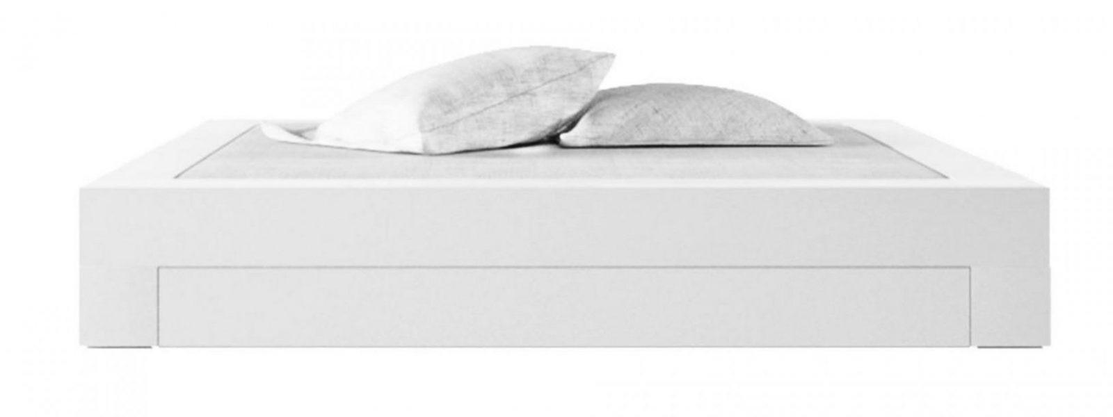 Bett Somnium Mit Bettkasten – Designbett Von Rechteck von Hochglanz Bett Weiß 140X200 Photo