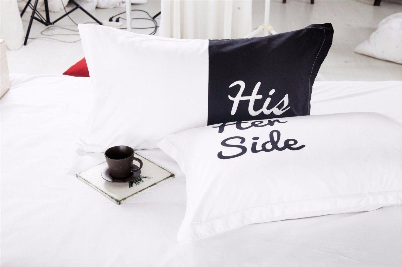 """Bettbezug """"his Side Her Side"""" Endlich Klarheit Im Bett von Bettwäsche His Side Her Side Bild"""