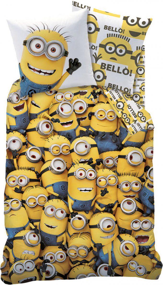 Bettbezug Mit Kissenbezug Bettwäsche Bezug Set Bed In A Bag Double von Minions Bettwäsche 155X220 Bild