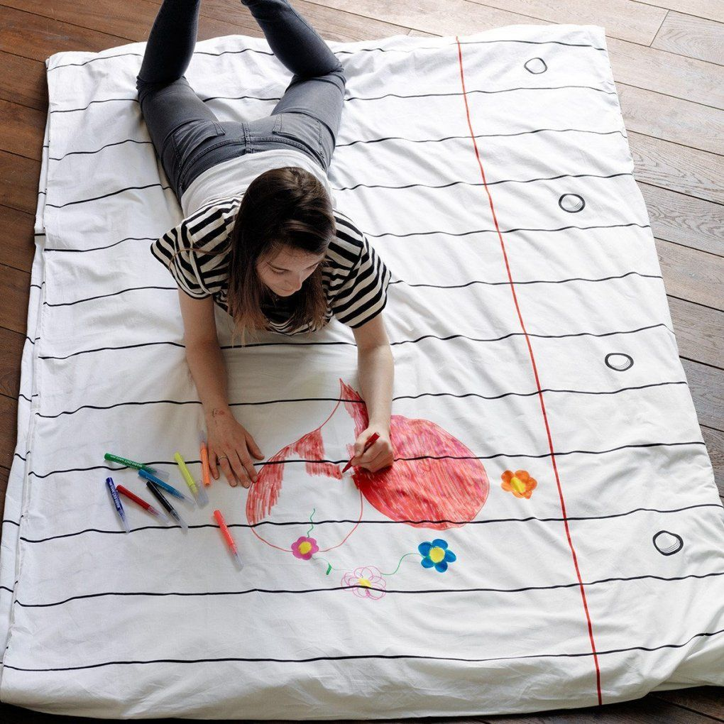 Bettdecke Zum Bemalen  Geschenkidee von Bettwäsche Selbst Bemalen Photo