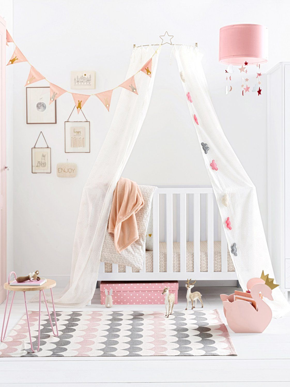 Betthimmel Halterung Wand Mit Vertbaudet Für Kinderbetten In Grau 2 von Betthimmel Kinderbett Selber Machen Photo