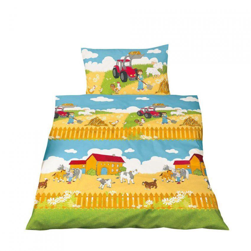 Bettwäsche 100X135 Cm Baumwolle Kinder Bauernhof Roter Traktor Pferd von Bettwäsche 100X135 Jungen Bild