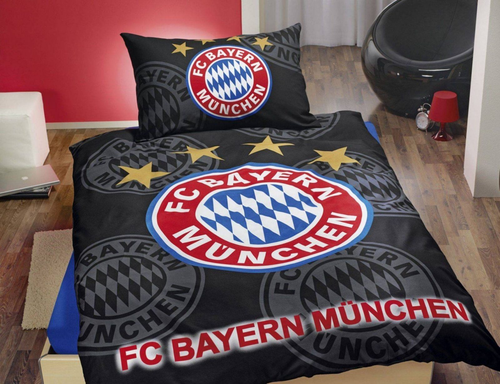 fc bayern bettw sche 155x220 haus design ideen. Black Bedroom Furniture Sets. Home Design Ideas